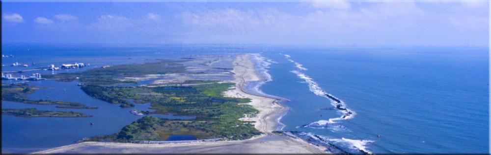 aerial of Louisiana coastline